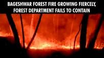 Bageshwar forest fire growing fiercely, Forest Department fails to contain