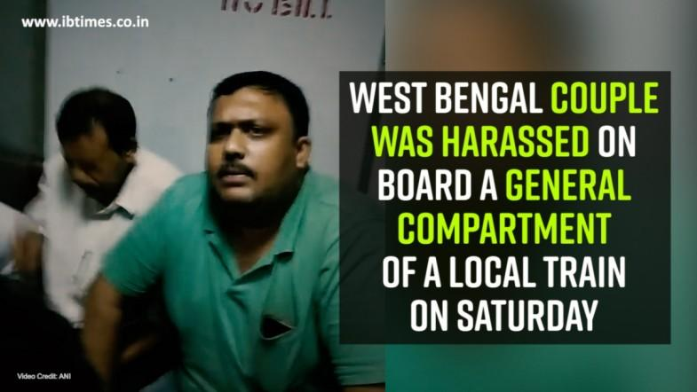 West Bengal couple was harassed on board a general compartment of a local train