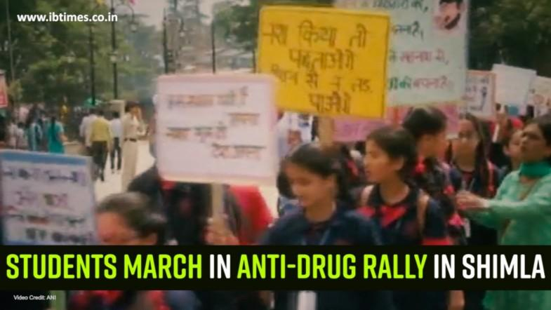 Students march in anti-drug rally in Shimla