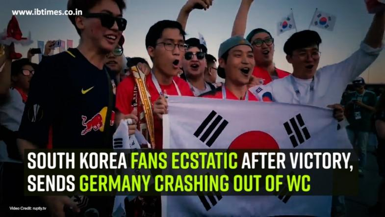 South Korea fans ecstatic after victory sends Germany crashing out of WC