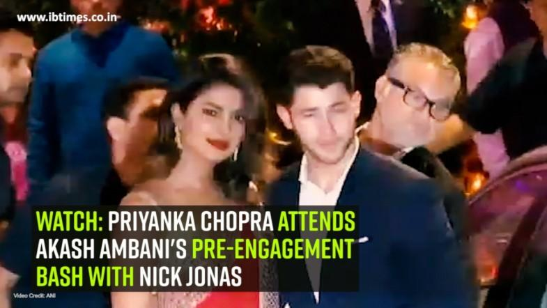 Priyanka Chopra attends Akash Ambanis pre-engagement bash with Nick Jonas