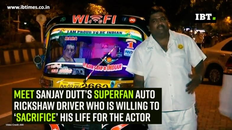 Meet Sanjay Dutt's superfan auto rickshaw driver who is willing to 'sacrifice' his life for the actor