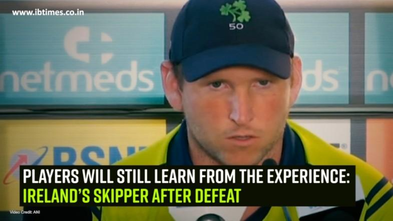 Players will still learn from the experience: Ireland's skipper after defeat