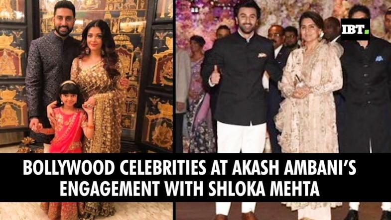 Bollywood celebrities at Akash Ambani,s engagement with Shloka Mehta