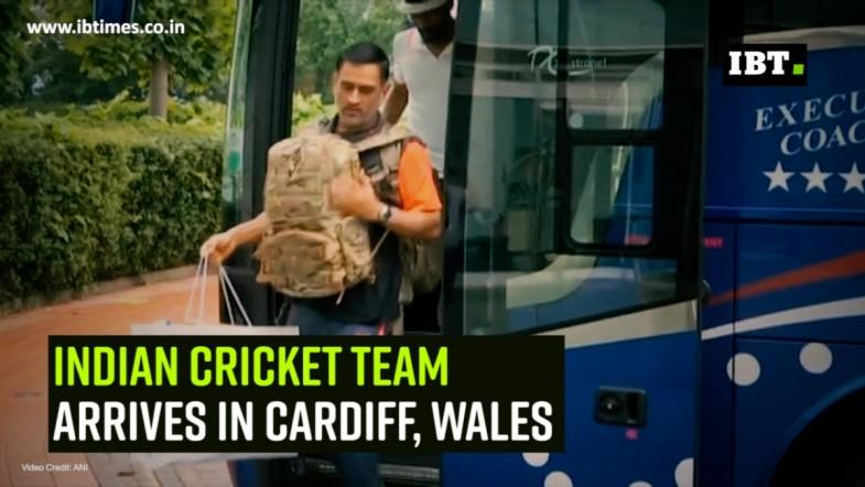 Indian cricket team arrives in Cardiff, Wales