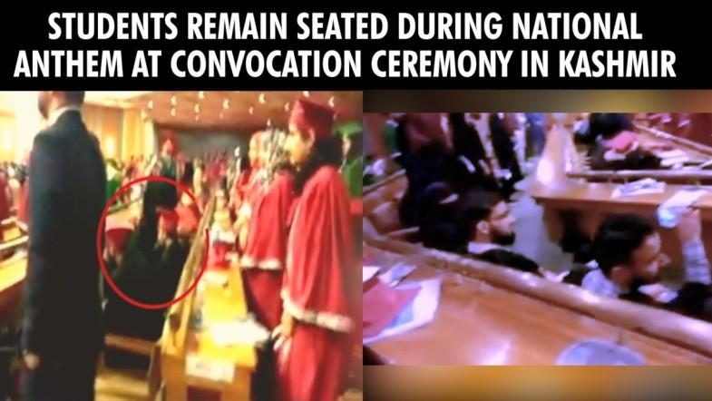 Students disrespect national anthem during convocation ceremony in Kashmir