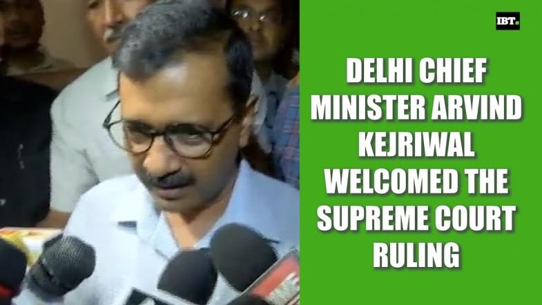 Arvind Kejriwal welcomed the Supreme Court ruling in favour of the Delhi Government