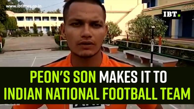 Peons son makes it to Indian national football team