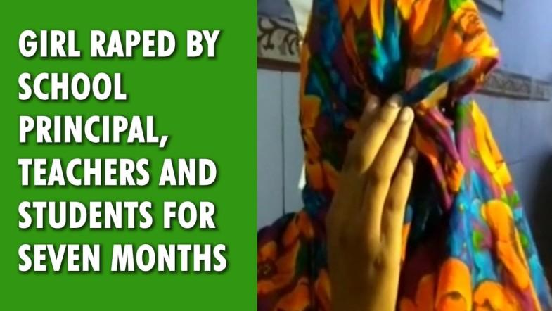 Girl raped by school principal, teachers and students for seven months