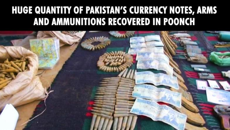 Huge quantity of Pakistans currency notes, arms and ammunitions recovered in Poonch