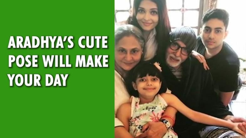 Aaradhyas cute pose will make your day