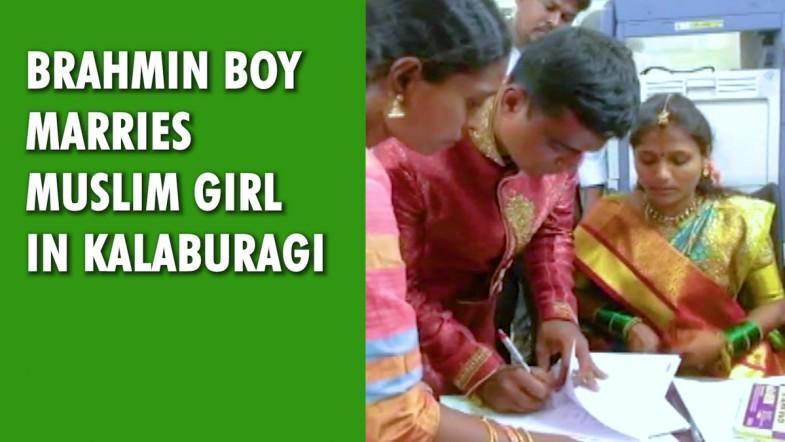 Brahmin boy marries Muslim girl in Kalaburagi