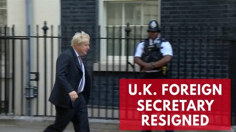U.K. Foreign Secretary Boris Johnson Resigns
