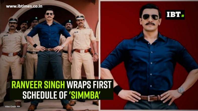 Ranveer Singh wraps first schedule of Simmba