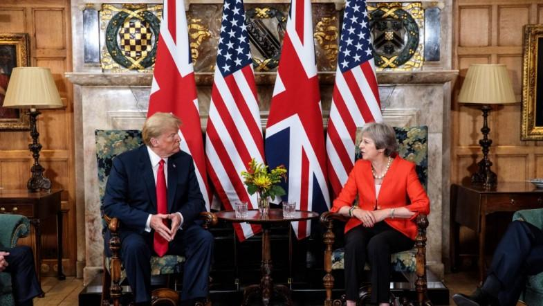 Donald Trump Reiterates Relationship Between The U.S. And U.K. Remains Strong