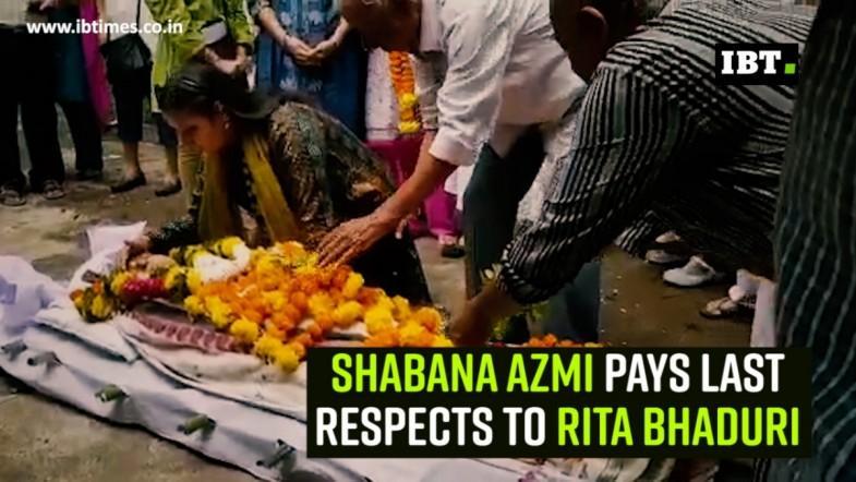 Shabana Azmi pays last respects to Rita Bhaduri