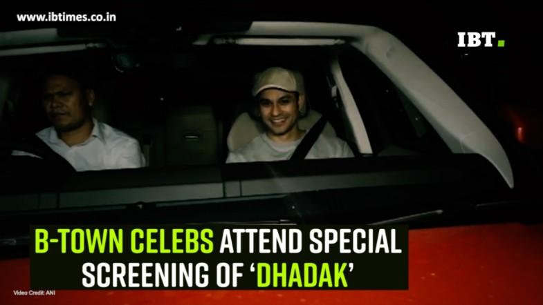 B-town celebs attend special screening of 'Dhadak'