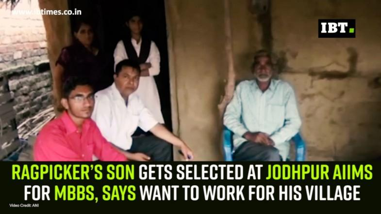 Ragpicker's son gets selected at Jodhpur AIIMS for MBBS, says want to work for his village