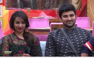 Tejaswi Madivada and Samrat Reddy in Bigg Boss Telugu 2 in week 5