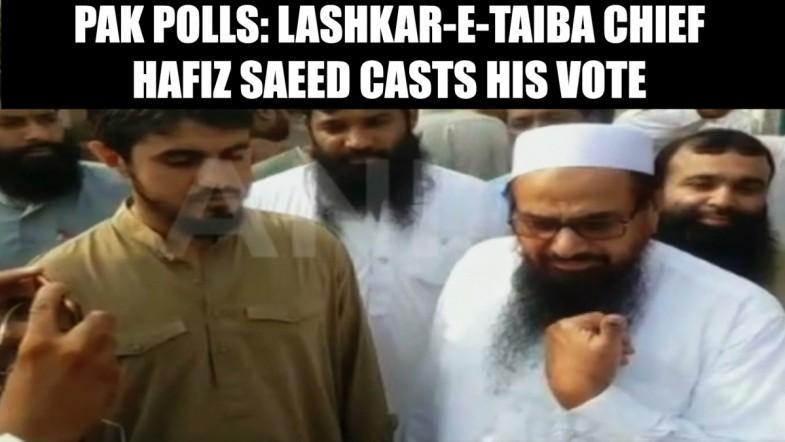 Lashkar eTaiba chief Hafiz Saeed casts his vote