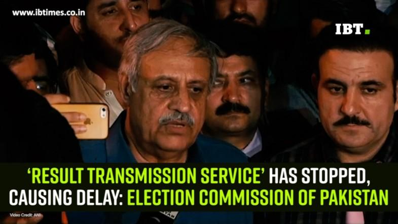 'Result Transmission Service' has stopped, causing delay: Election Commission of Pakistan