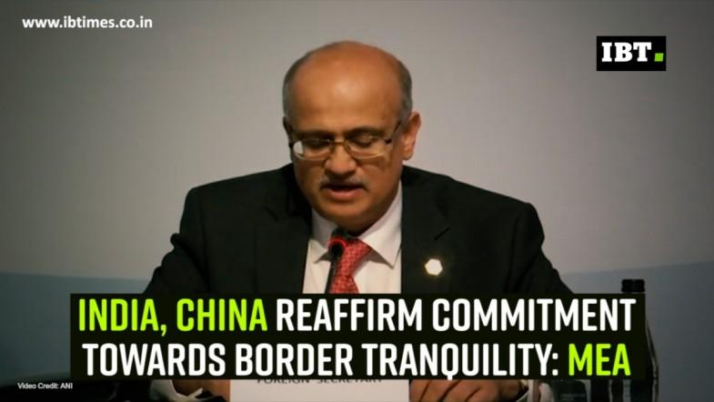 India, China reaffirm commitment towards border tranquility: MEA
