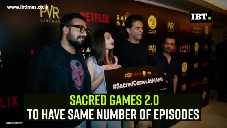 Sacred Games 2.0 to have same number of episodes