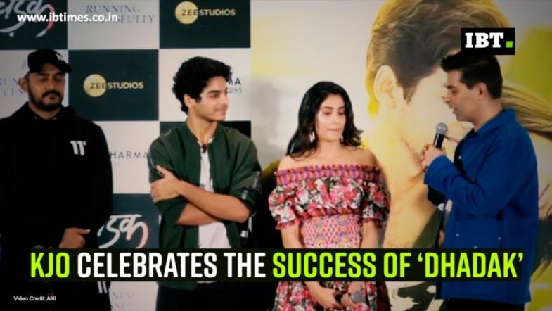 KJo celebrates the success of 'Dhadak'