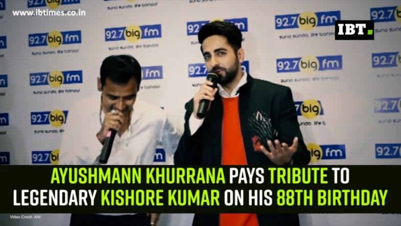 Ayushmann Khurrana pays tribute to legendary Kishore Kumar