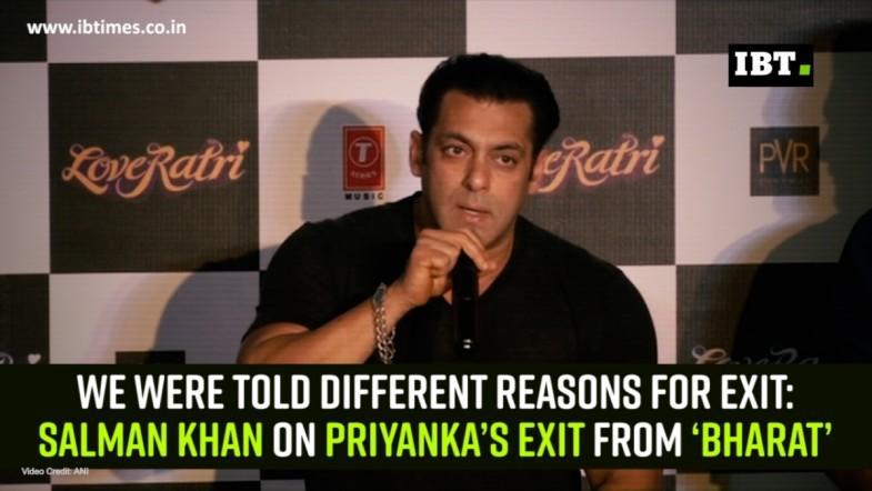We were told different reasons for exit: Salman Khan on Priyanka's exit from 'Bharat'