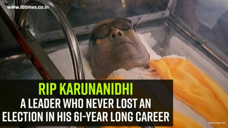 RIP Karunanidhi: A leader who never lost an election in his 61-year long career