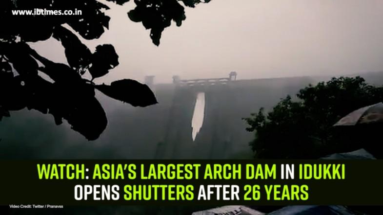 Watch: Asias largest arch dam in Idukki opens shutters after 26 years