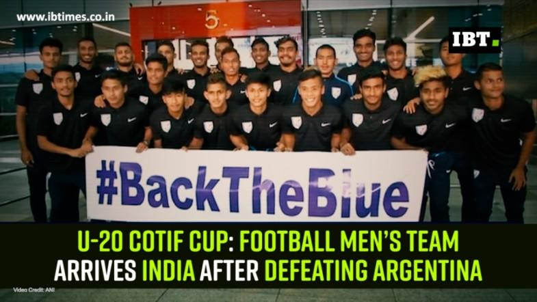 U-20 COTIF Cup: Football men's team arrives India after defeating Argentina
