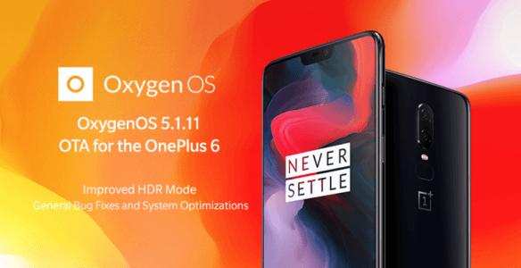 OnePlus 6, OxygenOS 5.1.11, camera HDR mode, display flickering