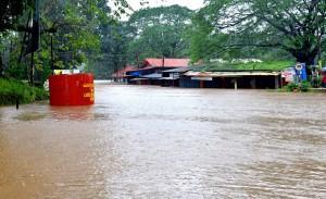 Flood like situation at Kukke Subramanya temple in Karnataka