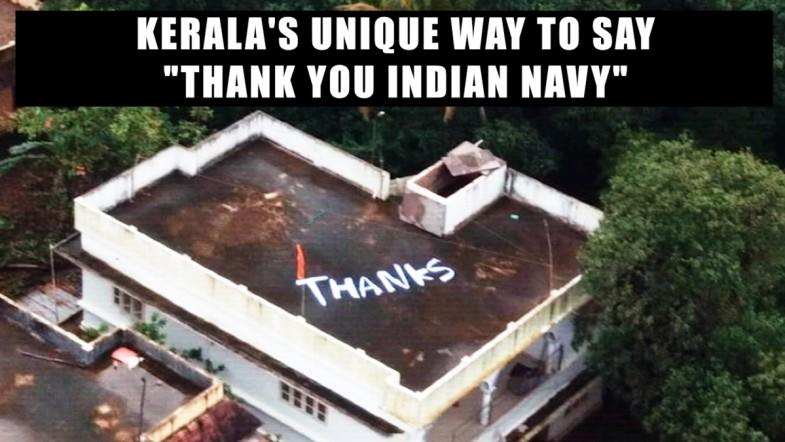 Keralas unique way to say thank you Indian Navy