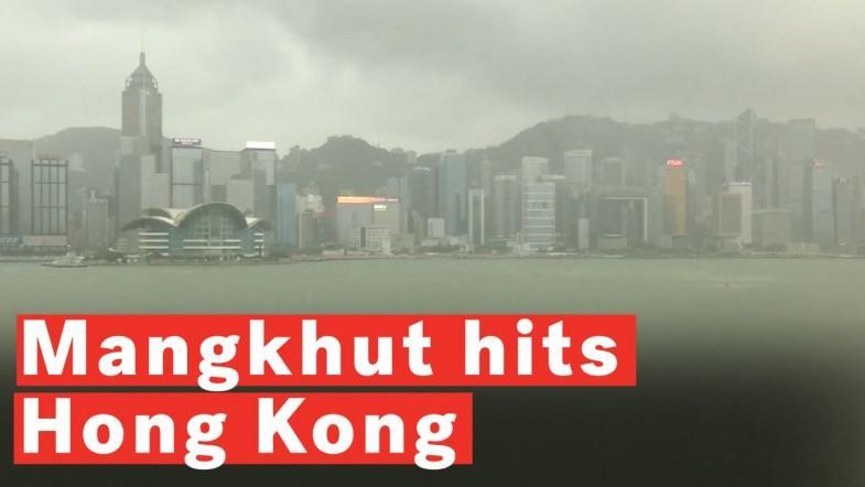 Typhoon Mangkhut Causes Severe Damage As It Batters Hong Kong