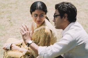 Rasika Dugal with Nawazuddin Siddiqui on Manto sets