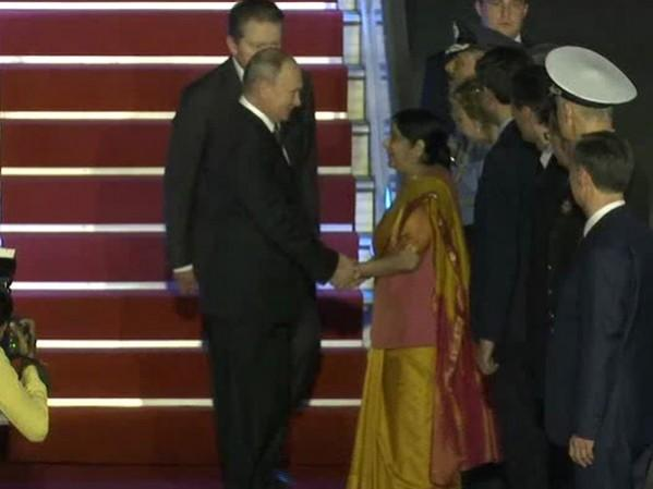 sushma swaraj-putin