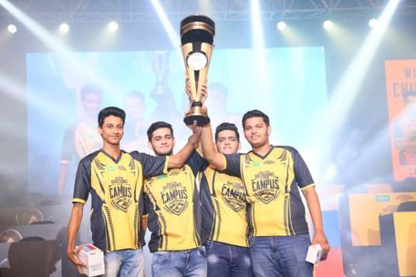 PUBG Mobile Campus Championship 2018 winners - The Terrifying Nightmares