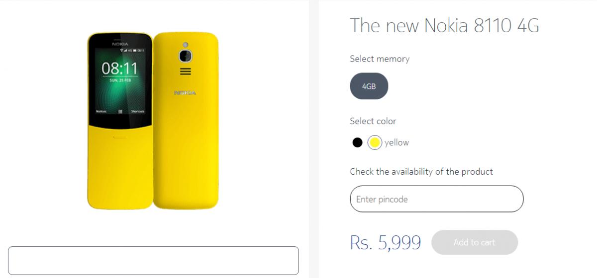 Nokia 8810 4G 'Banana Phone' finally available in India: Near