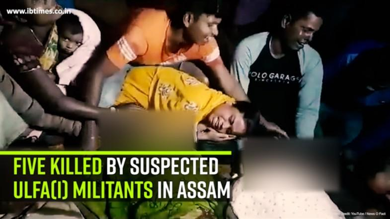Five Killed by Suspected ULFA(I) Militants in Assam
