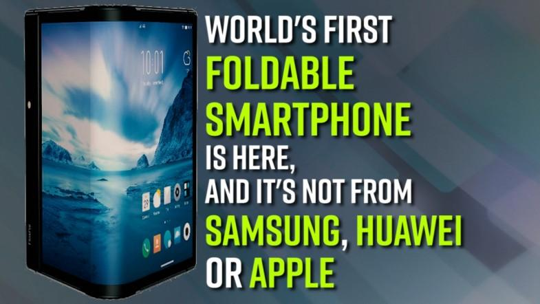 Worlds first foldable smartphone is here, and its not from Samsung, Huawei or Apple