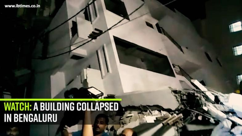 Watch: Building Collapsed in Bengaluru