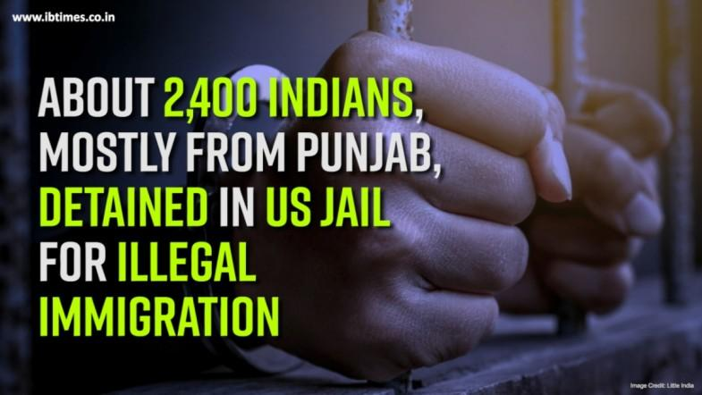 About 2,400 Indians, detained in US jail for illegal immigration