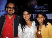Indian theatre personality and and film maker Alyque Padamsee, (L), film actress Vishakha Singh (C) and painter Punam A Salecha