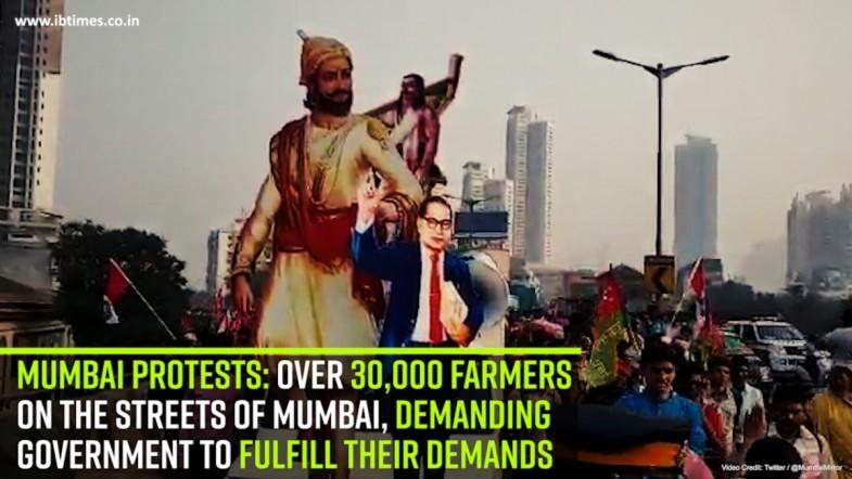 Mumbai protests: Over 30,000 farmers on the streets of Mumbai, demanding  government to fulfill their demands