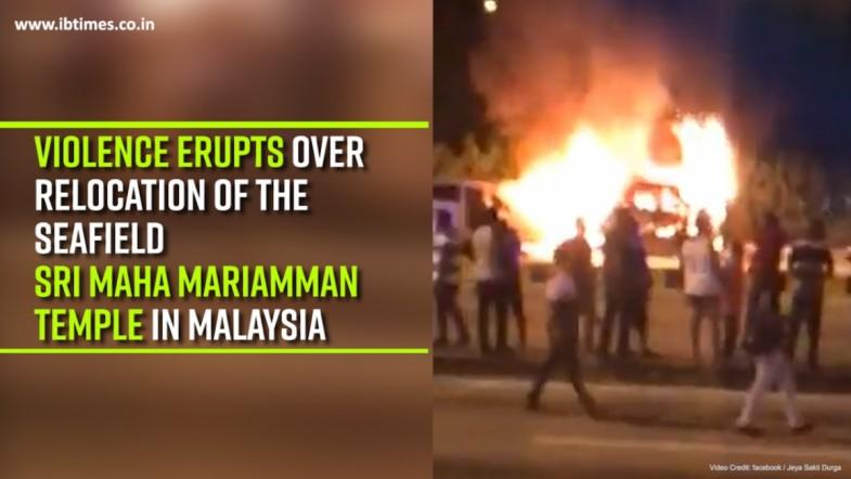Violence erupts over the relocation of the Seafield Sri Maha Mariamman temple in Malaysia