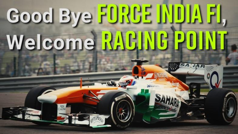 Good Bye Force India F1, Welcome Racing Point