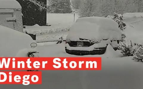 Winter Storm Diego Hits North Carolina